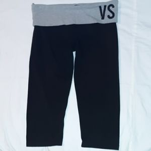 Victoria's Secret Crop Leggings Yoga Pants Stars L